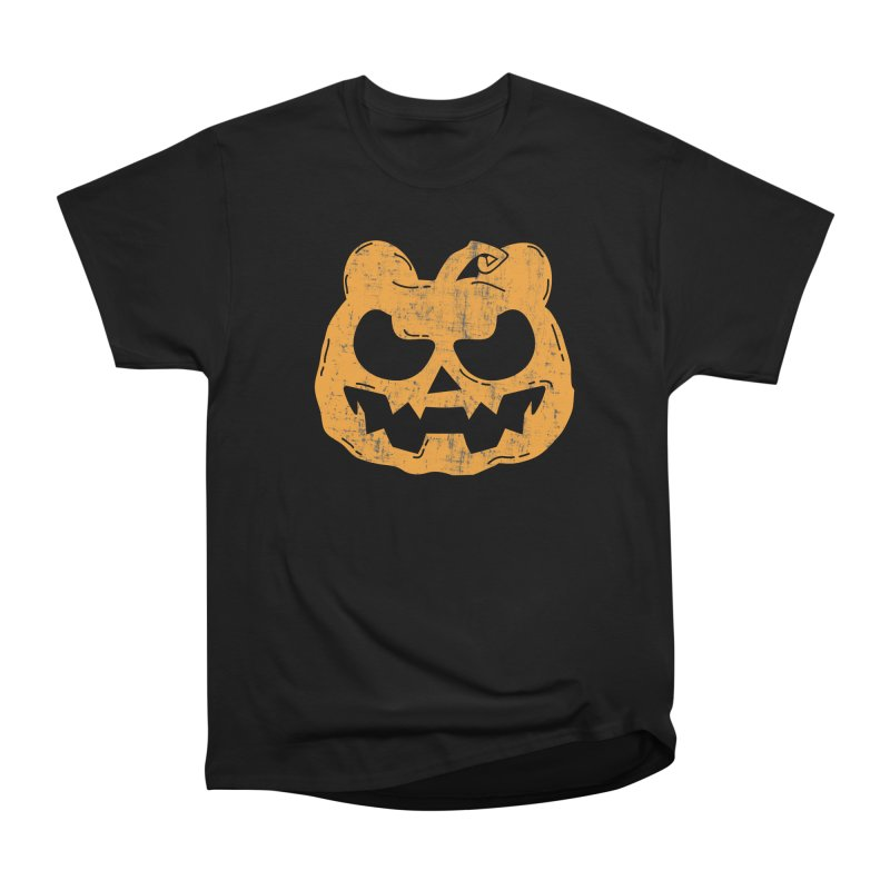 Pumpkin Bear Jack O'Lantern Head Men's T-Shirt by The Bearly Brand