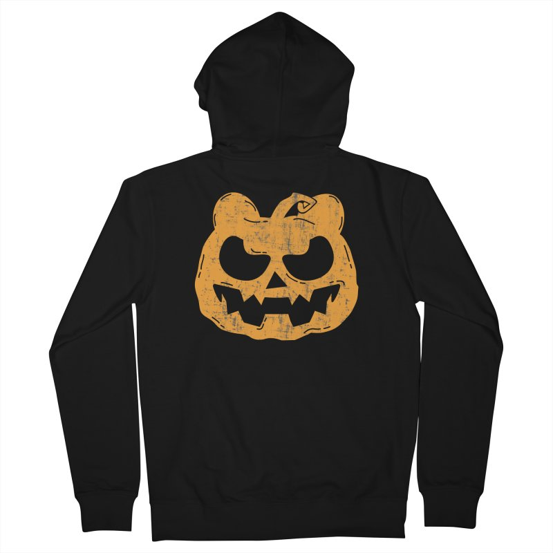 Pumpkin Bear Jack O'Lantern Head Men's French Terry Zip-Up Hoody by The Bearly Brand