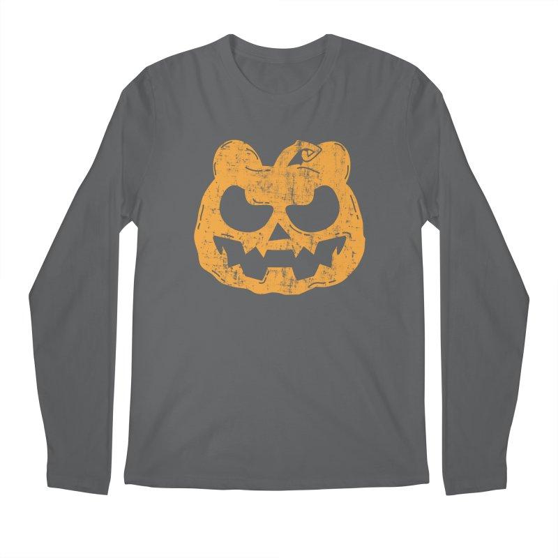 Pumpkin Bear Jack O'Lantern Head Men's Regular Longsleeve T-Shirt by The Bearly Brand