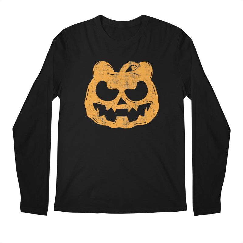 Pumpkin Bear Jack O'Lantern Head Men's Regular Longsleeve T-Shirt by The Bearly Brand