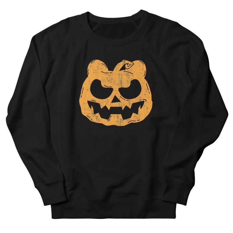 Pumpkin Bear Jack O'Lantern Head Men's French Terry Sweatshirt by The Bearly Brand