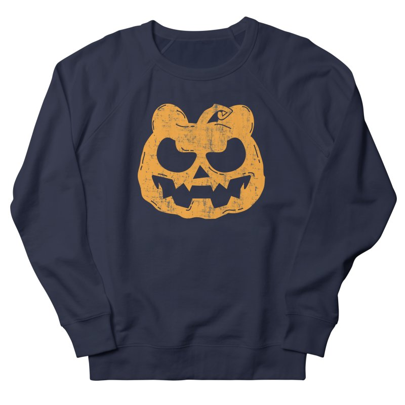 Pumpkin Bear Jack O'Lantern Head Men's French Terry Sweatshirt by The Bearly Brand