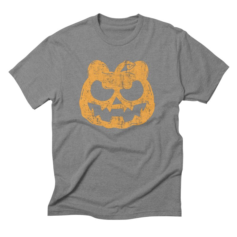 Pumpkin Bear Jack O'Lantern Head Men's Triblend T-Shirt by The Bearly Brand