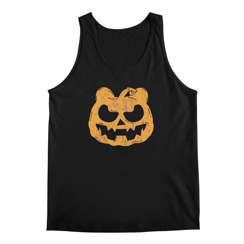 Pumpkin Bear Jack O'Lantern Head Men's Regular Tank by The Bearly Brand