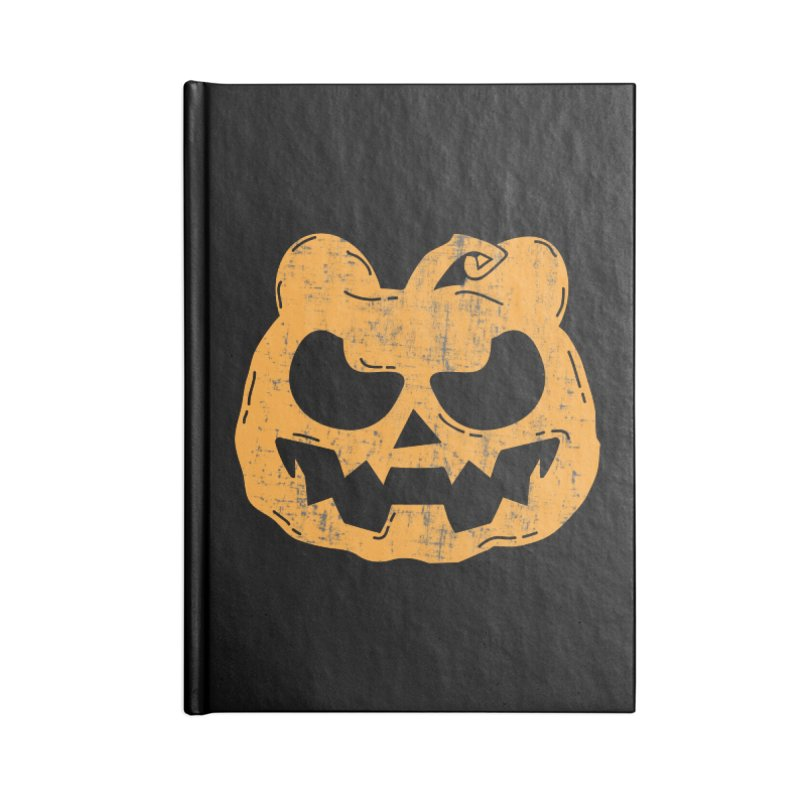 Pumpkin Bear Jack O'Lantern Head Accessories Lined Journal Notebook by The Bearly Brand