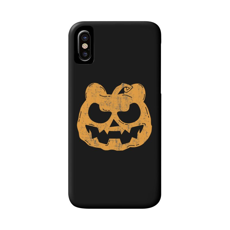 Pumpkin Bear Jack O'Lantern Head Accessories Phone Case by The Bearly Brand