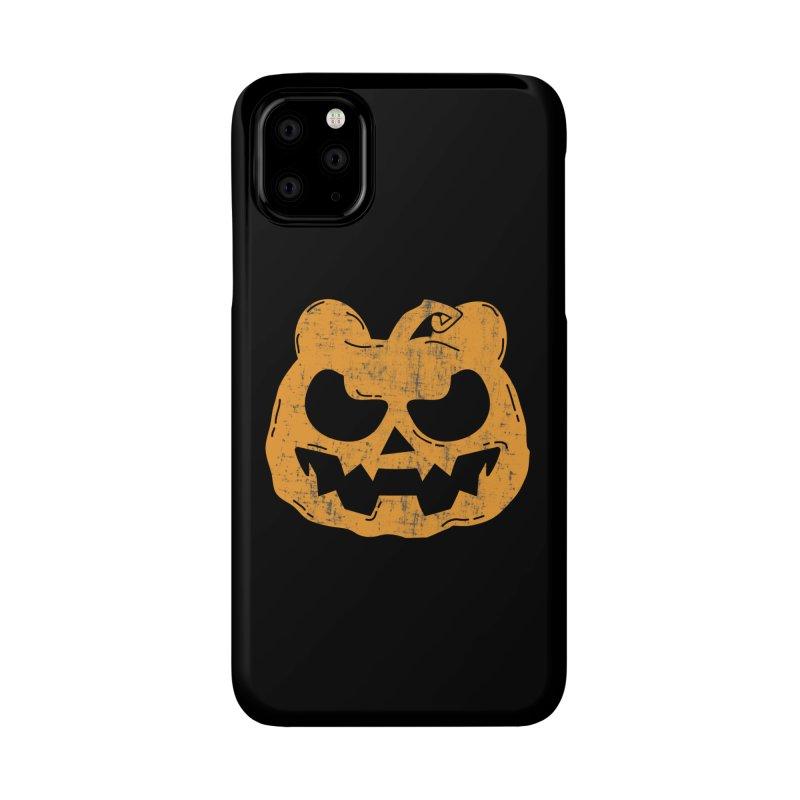 Pumpkin Bear Jack O'Lantern Head Accessories Phone Case by The Bearly Brand