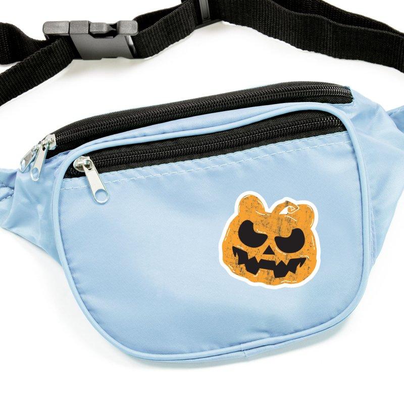 Pumpkin Bear Jack O'Lantern Head Accessories Sticker by The Bearly Brand