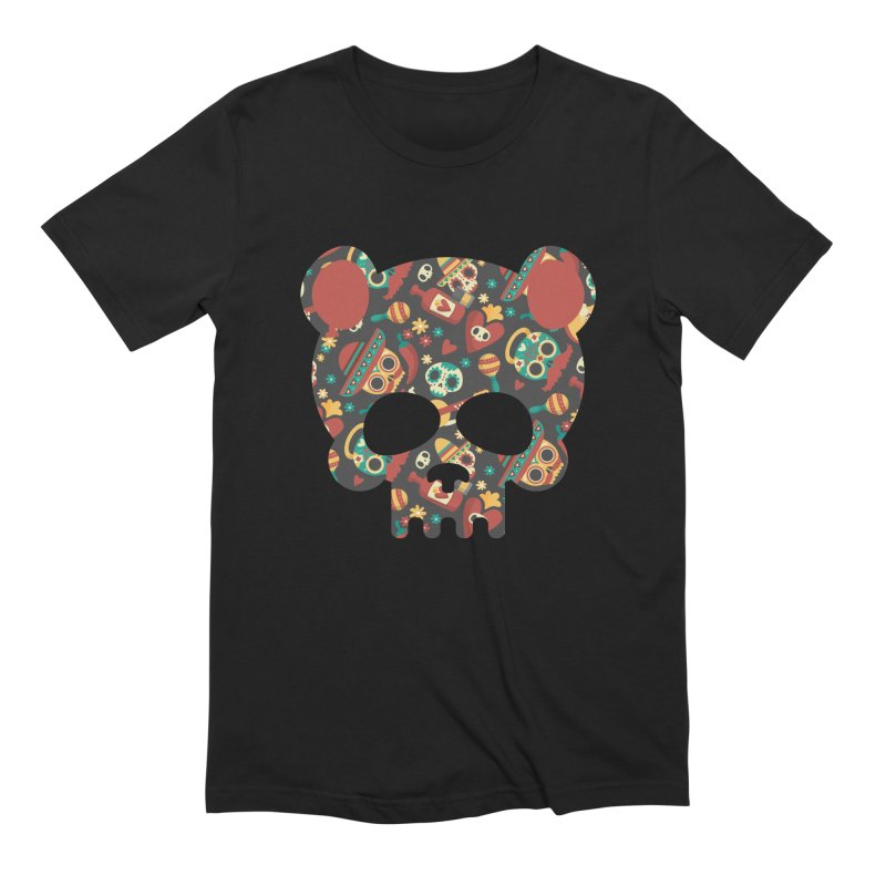 Day of The Dead Bear Skull Men's Extra Soft T-Shirt by The Bearly Brand