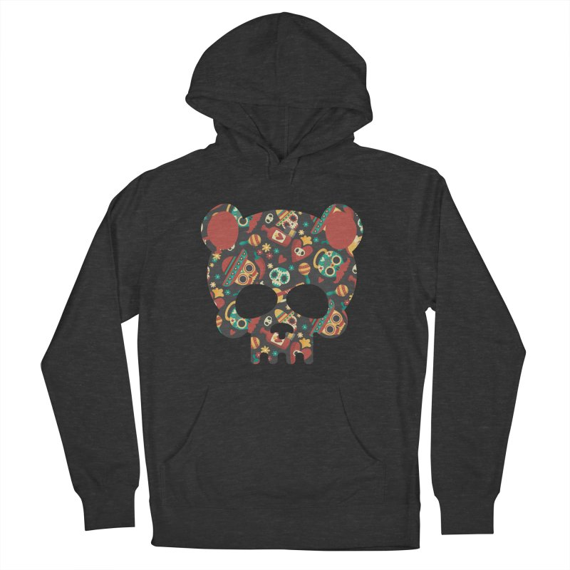 Day of The Dead Bear Skull Men's French Terry Pullover Hoody by The Bearly Brand