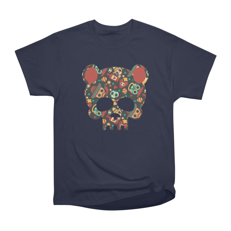 Day of The Dead Bear Skull Men's Heavyweight T-Shirt by The Bearly Brand