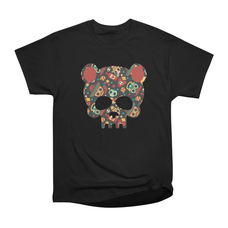 Day of The Dead Bear Skull Men's T-Shirt by The Bearly Brand