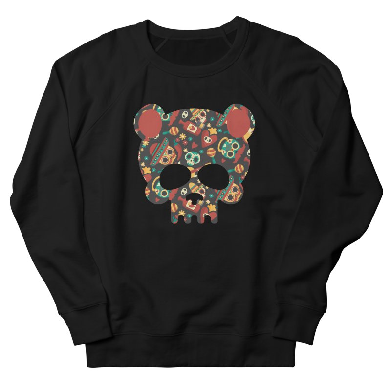 Day of The Dead Bear Skull Men's French Terry Sweatshirt by The Bearly Brand