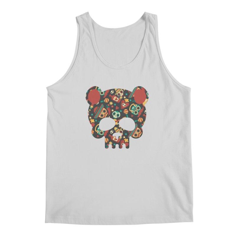 Day of The Dead Bear Skull Men's Regular Tank by The Bearly Brand