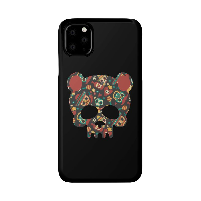Day of The Dead Bear Skull Accessories Phone Case by The Bearly Brand