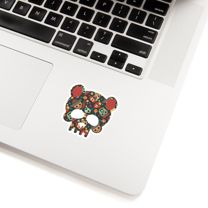 Day of The Dead Bear Skull Accessories Sticker by The Bearly Brand