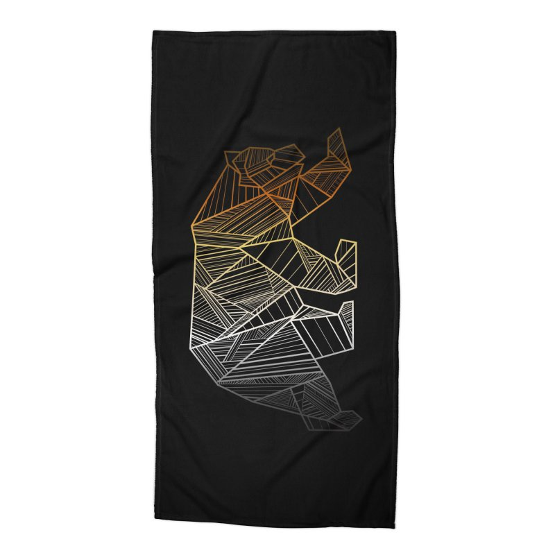 Geometric Bear Pride LGBTQ+ Accessories Beach Towel by The Bearly Brand