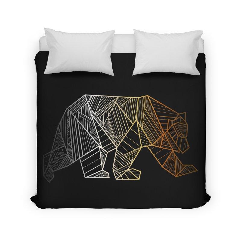 Geometric Bear Pride LGBTQ+ Home Duvet by The Bearly Brand