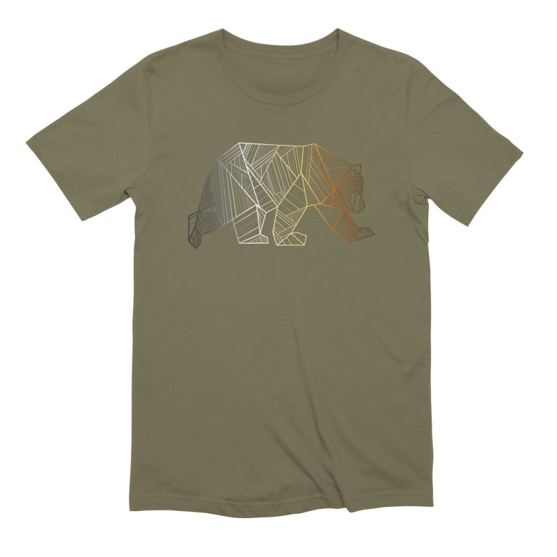 Geometric Bear Pride LGBTQ+ Men's Extra Soft T-Shirt by The Bearly Brand