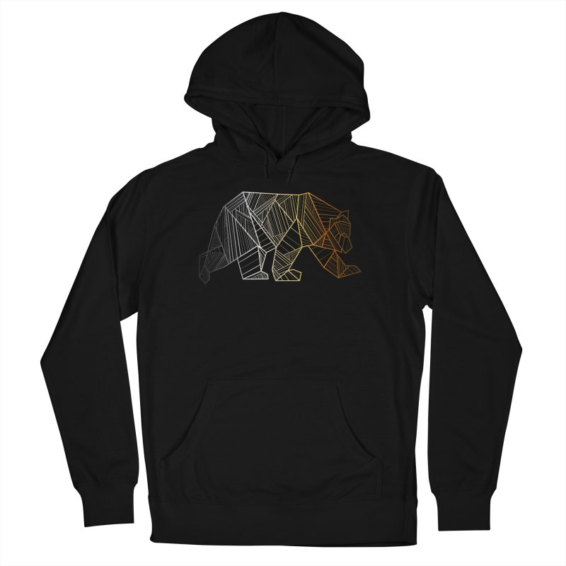 Geometric Bear Pride LGBTQ+ Men's French Terry Pullover Hoody by The Bearly Brand