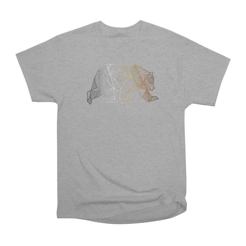 Geometric Bear Pride LGBTQ+ Men's Heavyweight T-Shirt by The Bearly Brand