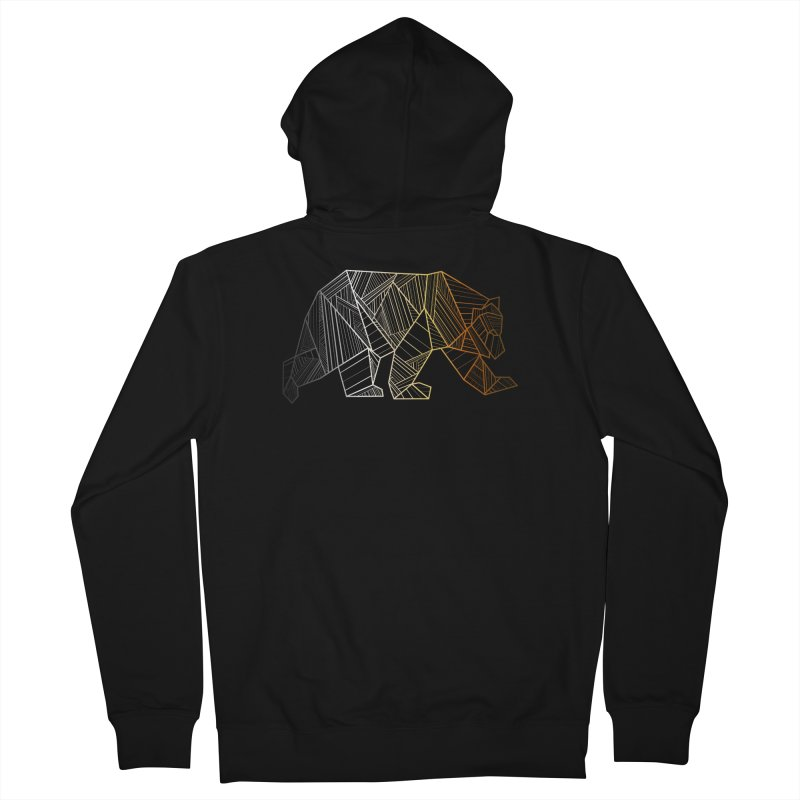 Geometric Bear Pride LGBTQ+ Men's French Terry Zip-Up Hoody by The Bearly Brand