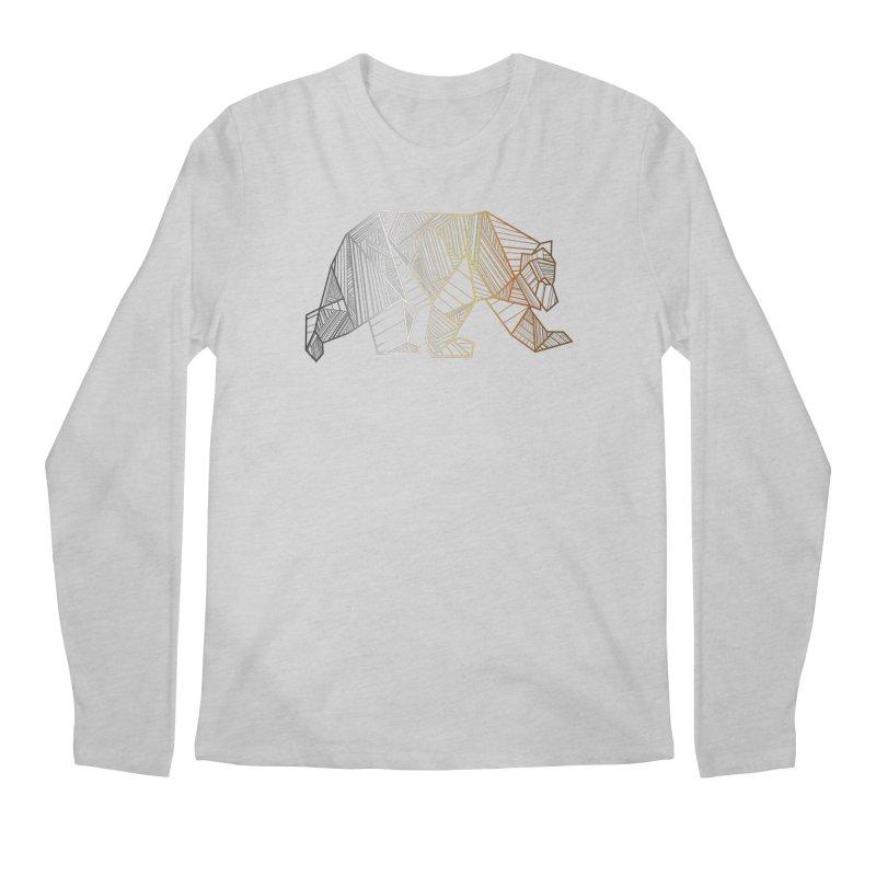 Geometric Bear Pride LGBTQ+ Men's Regular Longsleeve T-Shirt by The Bearly Brand
