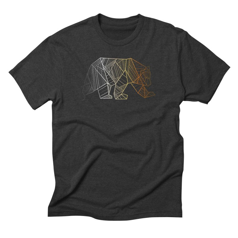 Geometric Bear Pride LGBTQ+ Men's Triblend T-Shirt by The Bearly Brand
