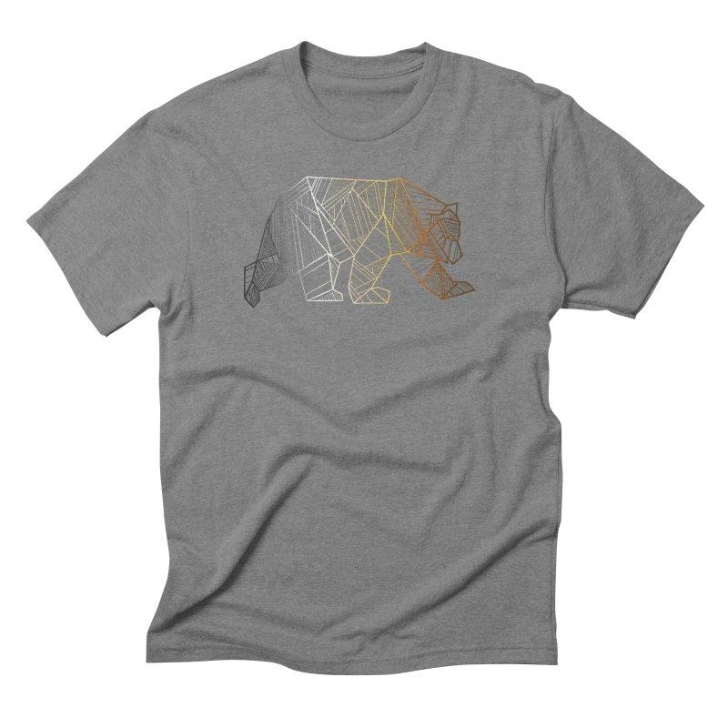 Geometric Bear Pride LGBTQ+ Men's Triblend T-Shirt by The Bearly Brand