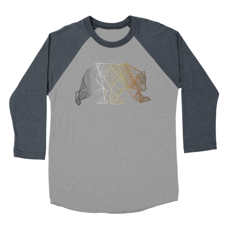 Geometric Bear Pride LGBTQ+ Men's Baseball Triblend Longsleeve T-Shirt by The Bearly Brand