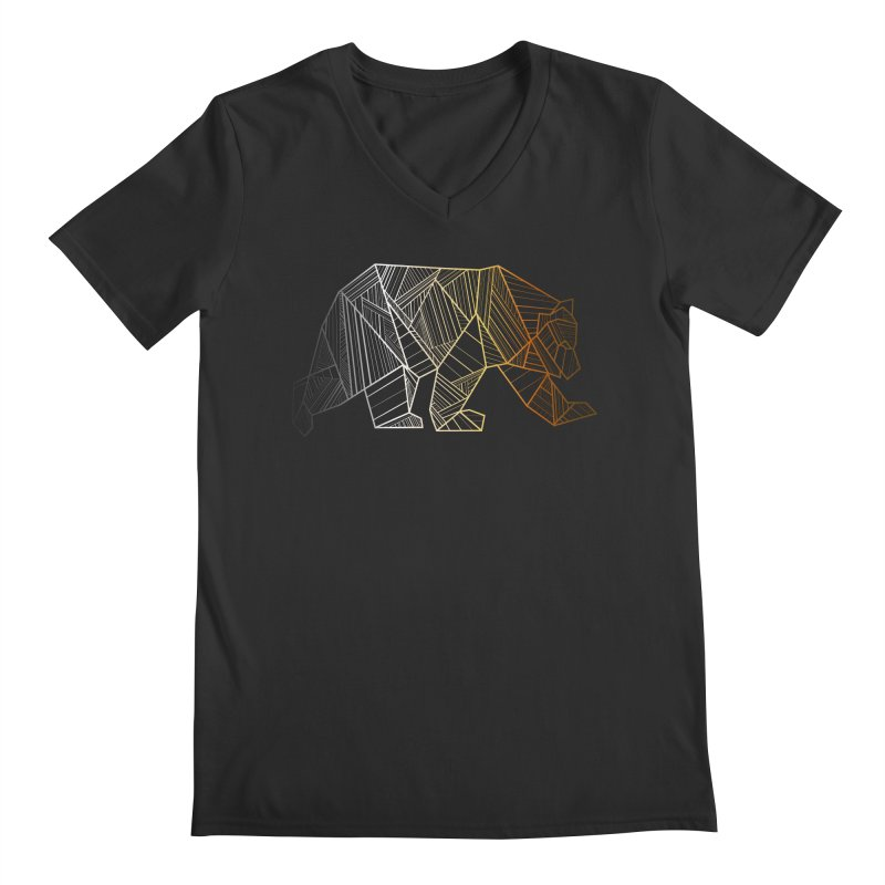 Geometric Bear Pride LGBTQ+ Men's Regular V-Neck by The Bearly Brand