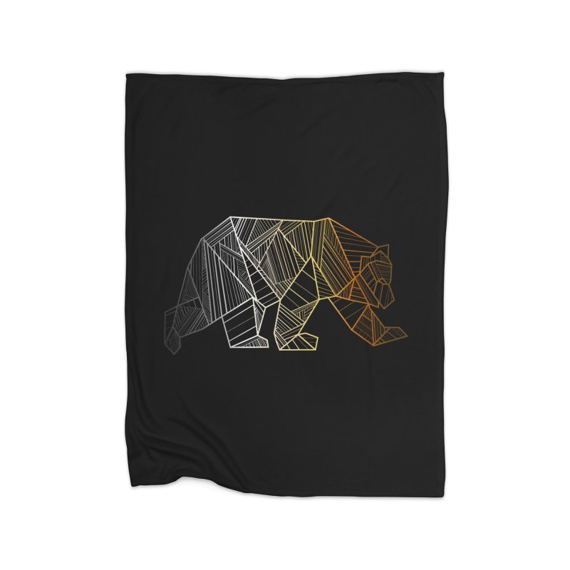 Geometric Bear Pride LGBTQ+ Home Blanket by The Bearly Brand