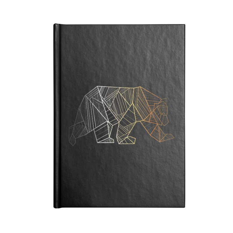 Geometric Bear Pride LGBTQ+ Accessories Lined Journal Notebook by The Bearly Brand