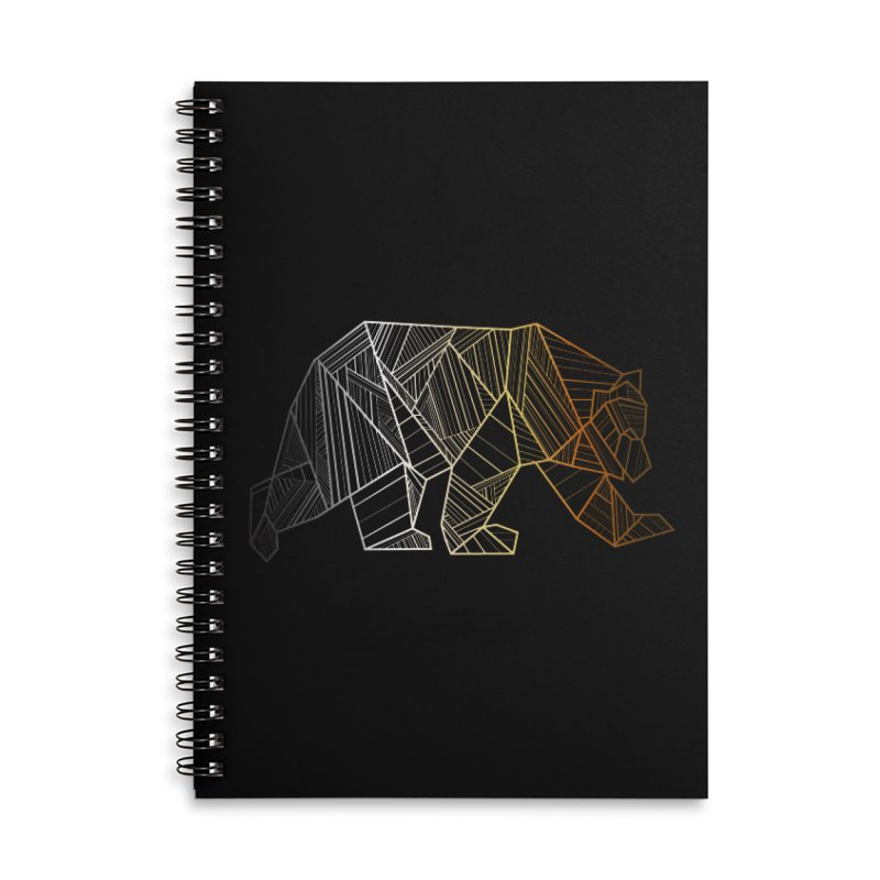 Geometric Bear Pride LGBTQ+ Accessories Lined Spiral Notebook by The Bearly Brand