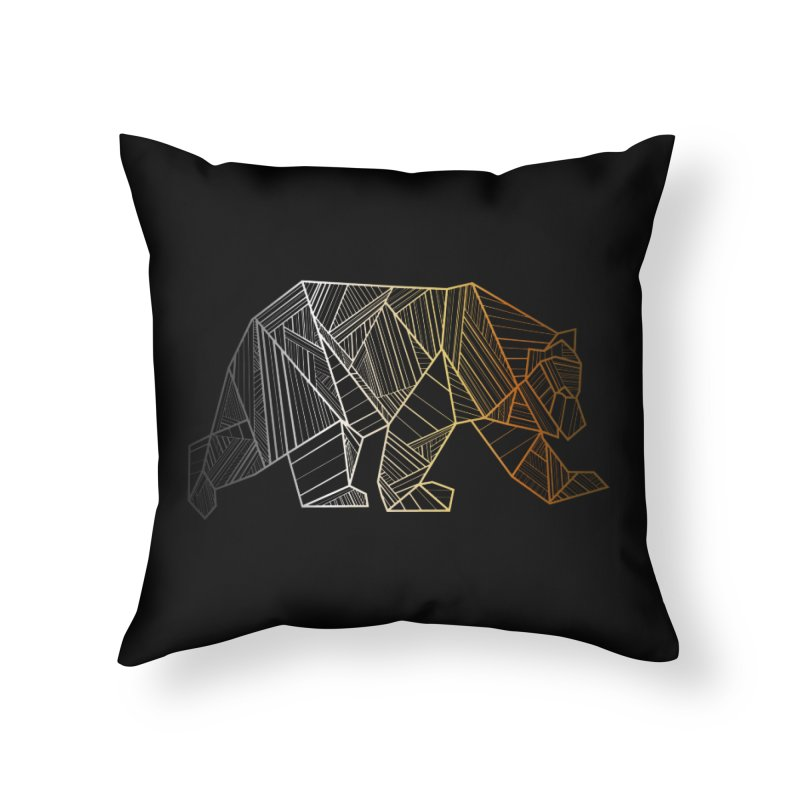 Geometric Bear Pride LGBTQ+ Home Throw Pillow by The Bearly Brand