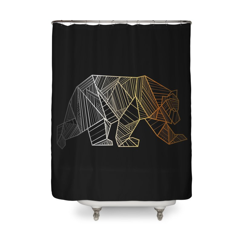 Geometric Bear Pride LGBTQ+ Home Shower Curtain by The Bearly Brand