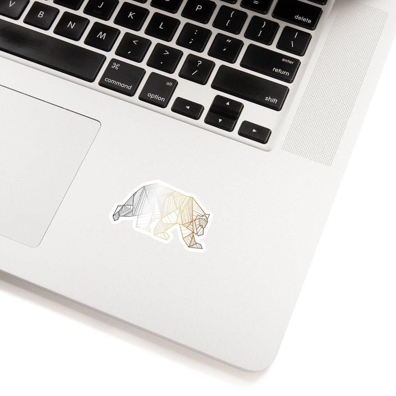 Geometric Bear Pride LGBTQ+ Accessories Sticker by The Bearly Brand