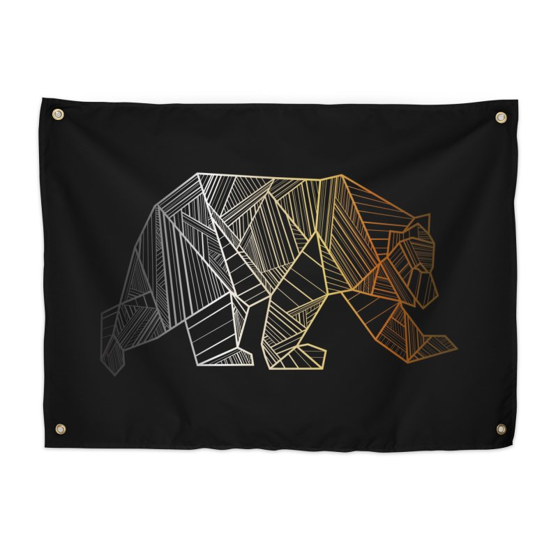 Geometric Bear Pride LGBTQ+ Home Tapestry by The Bearly Brand