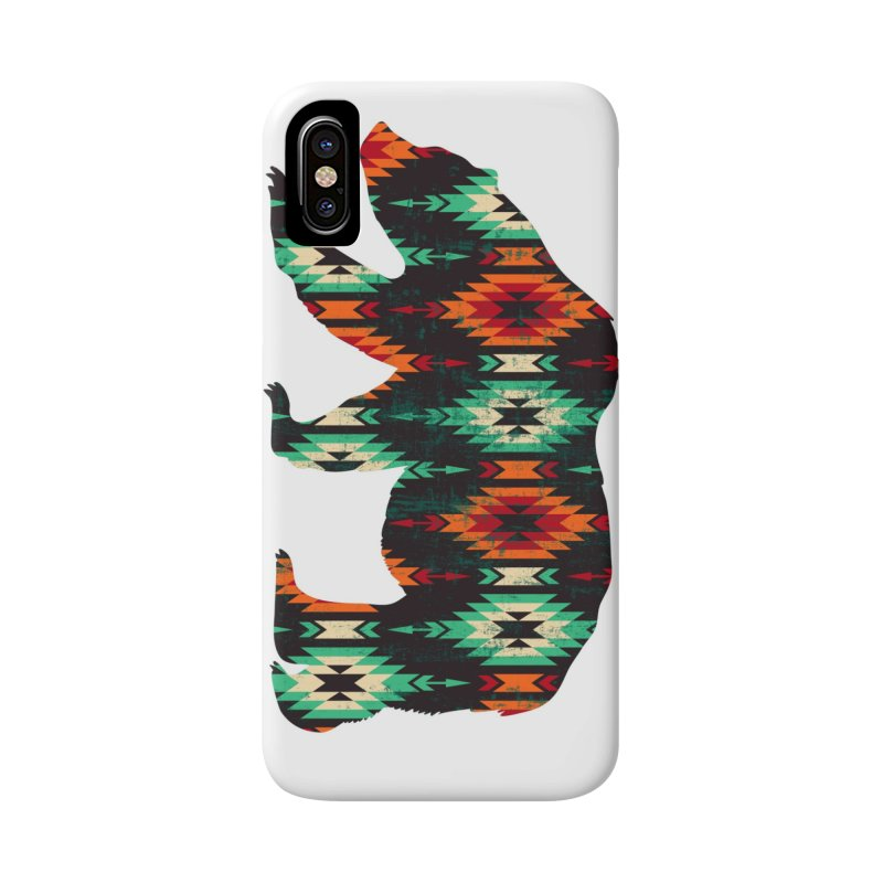 Southwestern Bear Aztec Tribal Grizzly Accessories Phone Case by The Bearly Brand