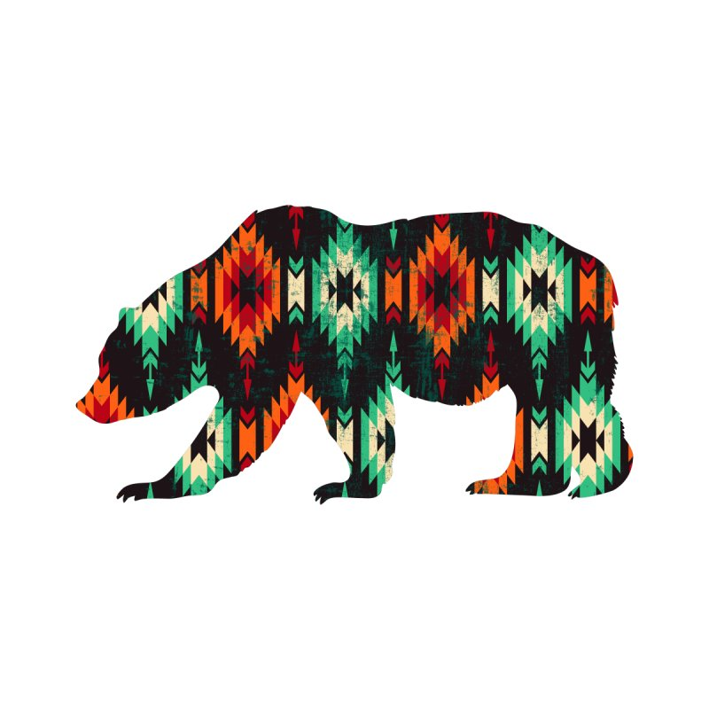 Southwestern Bear Aztec Tribal Grizzly by The Bearly Brand