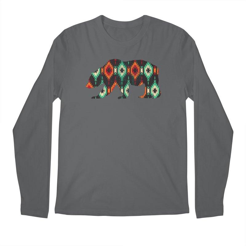 Southwestern Bear Aztec Tribal Grizzly Men's Regular Longsleeve T-Shirt by The Bearly Brand