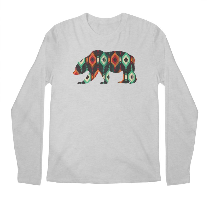 Southwestern Bear Aztec Tribal Grizzly Men's Regular Longsleeve T-Shirt by The Bearly Brand