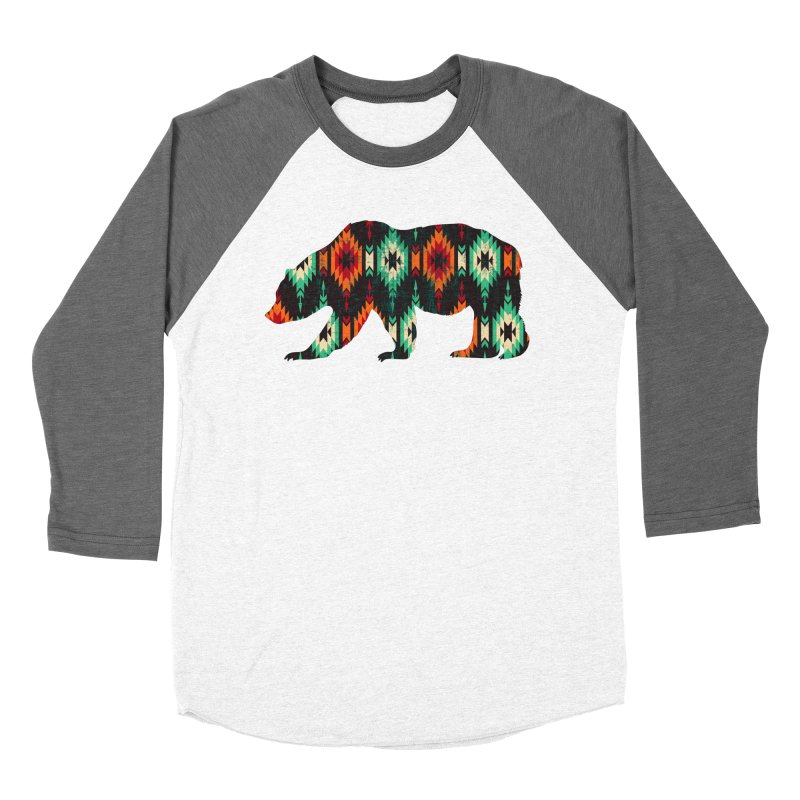 Southwestern Bear Aztec Tribal Grizzly Men's Baseball Triblend Longsleeve T-Shirt by The Bearly Brand