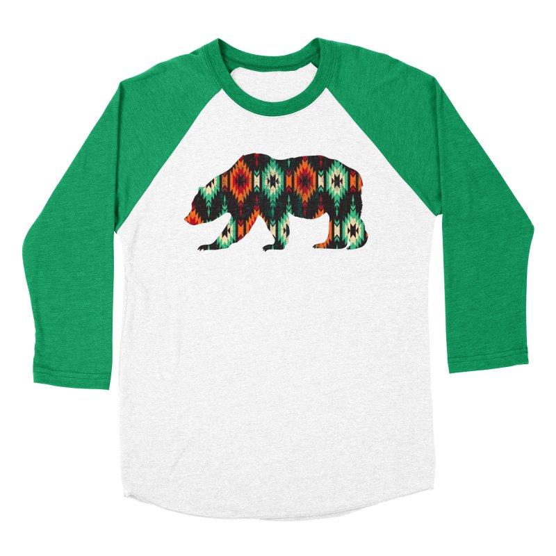 Southwestern Bear Aztec Tribal Grizzly Men's Baseball Triblend Longsleeve T-Shirt by The Bearly Brand