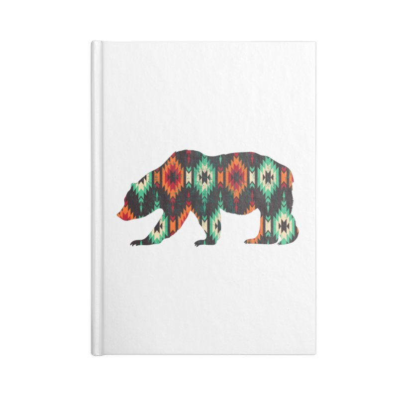Southwestern Bear Aztec Tribal Grizzly Accessories Lined Journal Notebook by The Bearly Brand