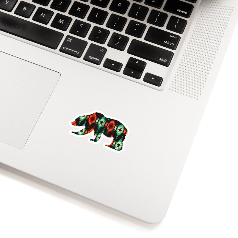 Southwestern Bear Aztec Tribal Grizzly Accessories Sticker by The Bearly Brand