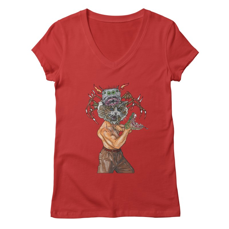vicious delicious Women's V-Neck by thebeewithwheels's Artist Shop