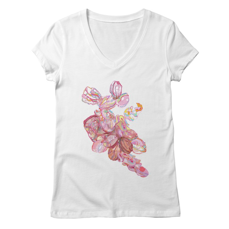 ghostly ham dreams Women's V-Neck by thebeewithwheels's Artist Shop