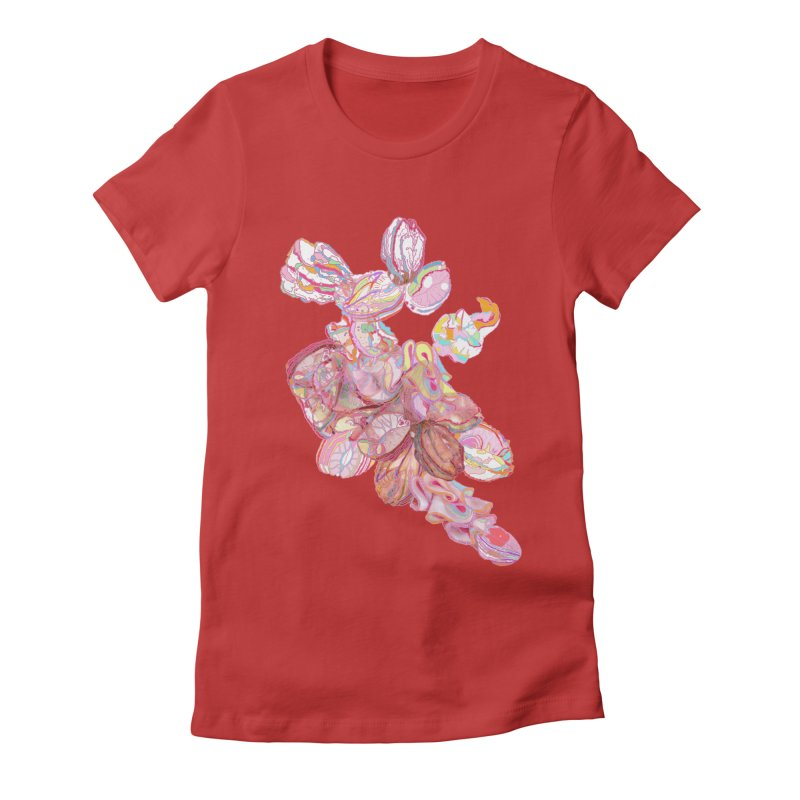 ghostly ham dreams Women's Fitted T-Shirt by thebeewithwheels's Artist Shop