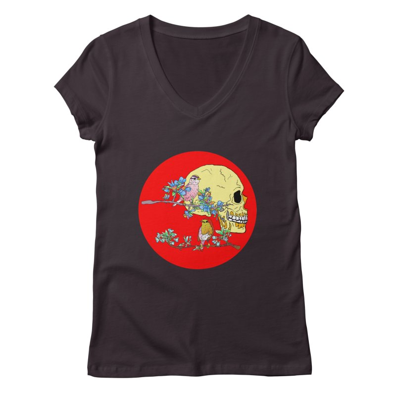 notice life before death Women's V-Neck by thebeewithwheels's Artist Shop